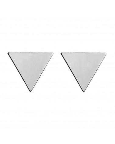 Srebrne kolczyki pełne trójkąty