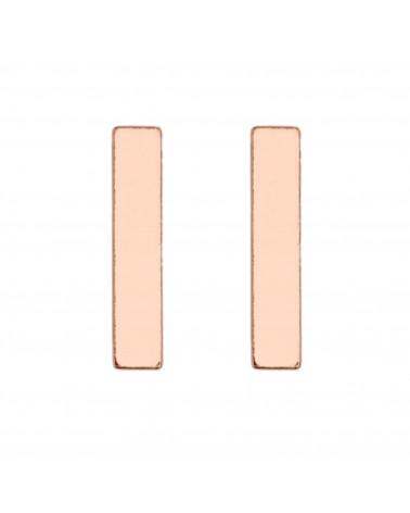 Kolczyki prostokąty z różowego złota