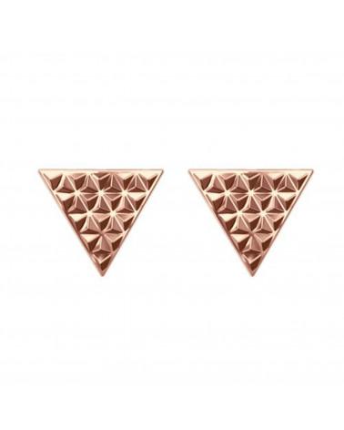 Kolczyki rockowe trójkąty z różowego złota