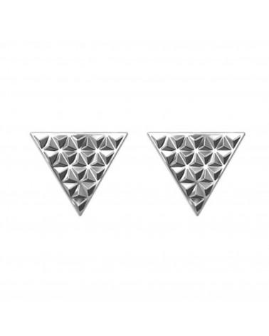Srebrne kolczyki z rockowymi trójkątami