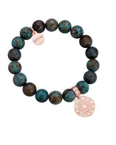 Kolczyki z dużymi arabskimi rozetami i pomarańczowo-różowymi kryształami SWAROVSKI® CRYSTAL