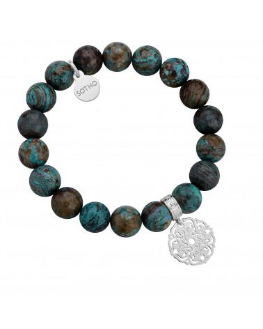 Kolczyki z dużymi arabskimi rozetami i cielistymi kryształami SWAROVSKI® CRYSTAL