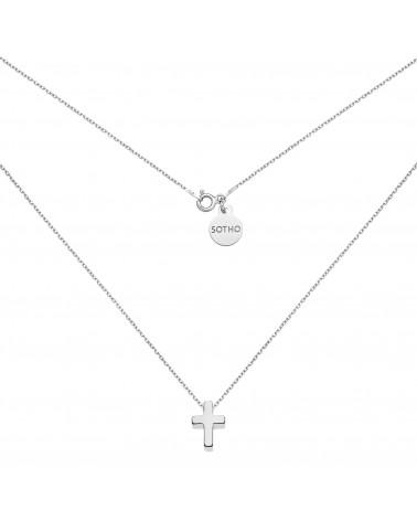 Srebrny naszyjnik z krzyżykiem