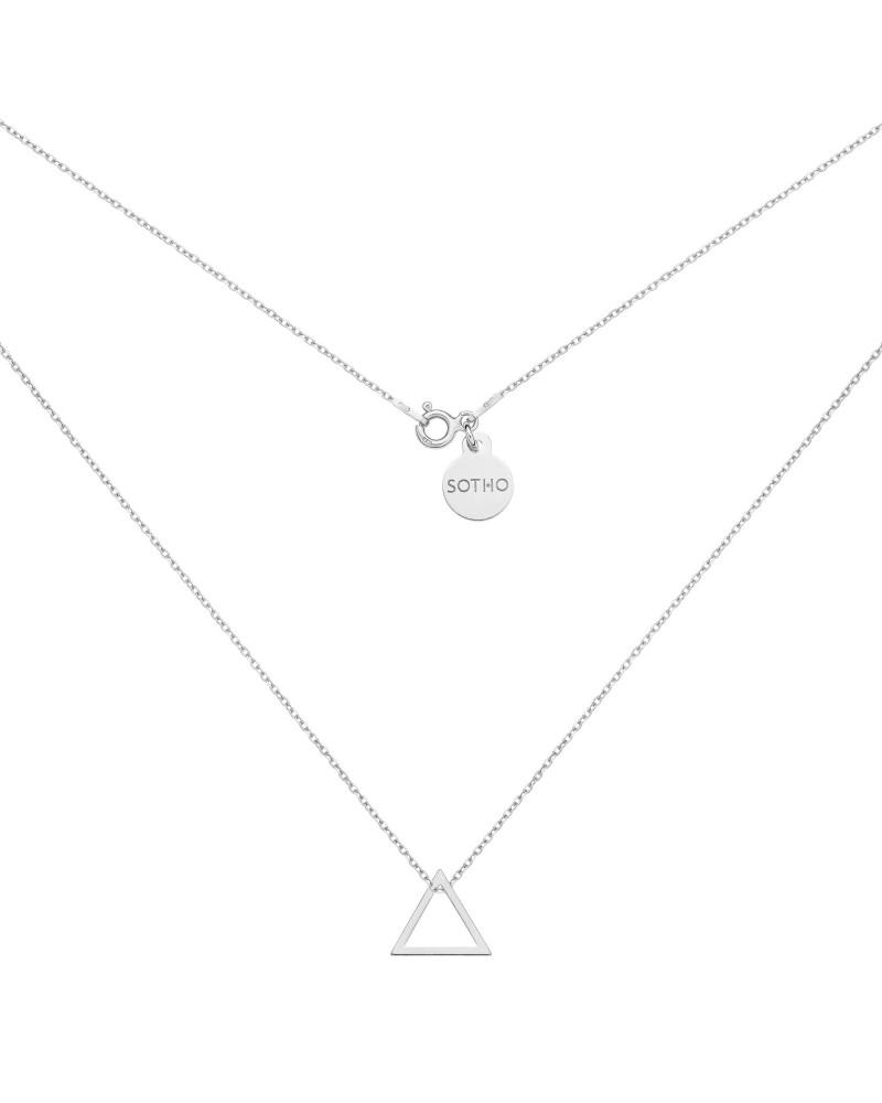 Srebrny naszyjnik z trójkątem