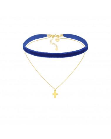 Srebrny naszyjnik z trzema kryształami SWAROVSKI® CRYSTAL