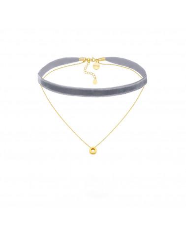 Naszyjnik z różowego złota ze sztangą