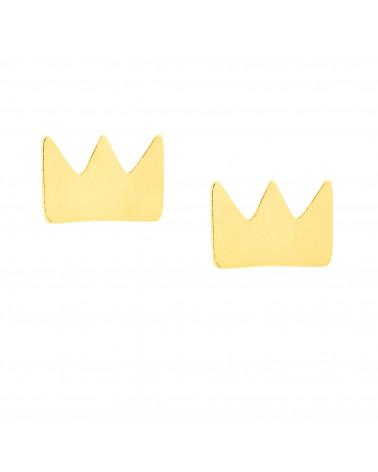 Złote kolczyki korony