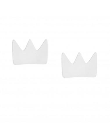 Srebrne kolczyki korony