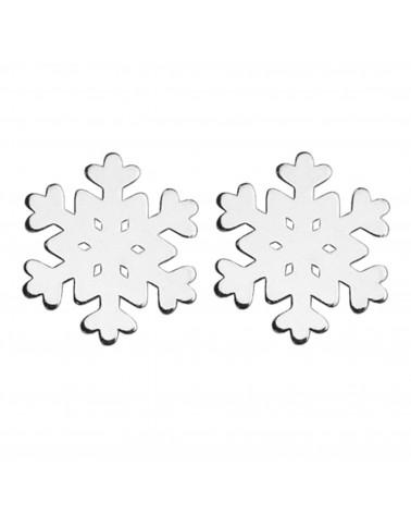 Srebrne kolczyki śnieżynki