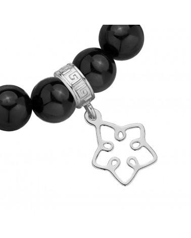 Czarny aksamitny choker z łańcuszkiem zdobionym krzyżykiem