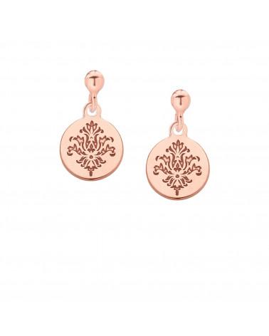 Kolczyki rozetki z różowego złota