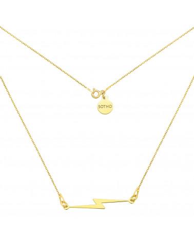 Złoty naszyjnik z piorunem