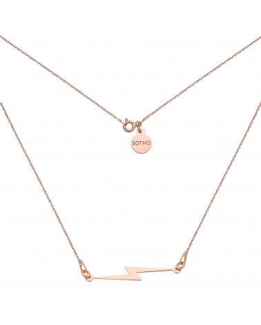 Naszyjnik z piorunem z różowego złota