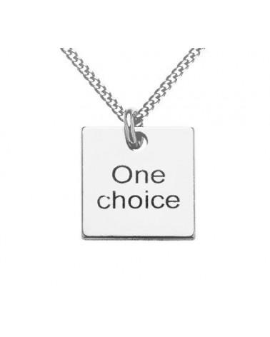 Srebrny męski naszyjnik pancerka One choice