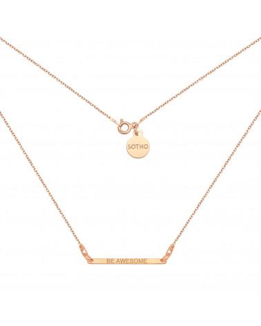 Naszyjnik z różowego złota z pełnym serduszkiem