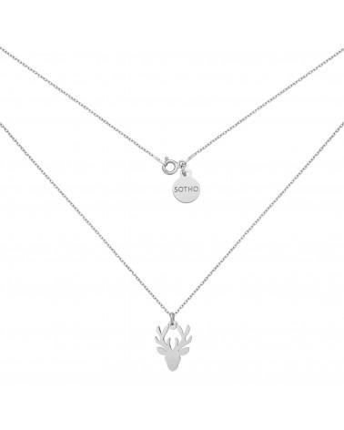 Srebrny naszyjnik z jeleniem