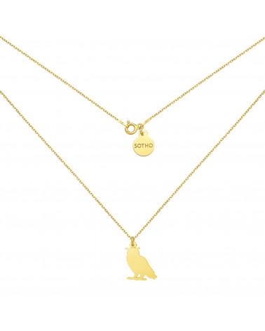 Złoty naszyjnik z sową