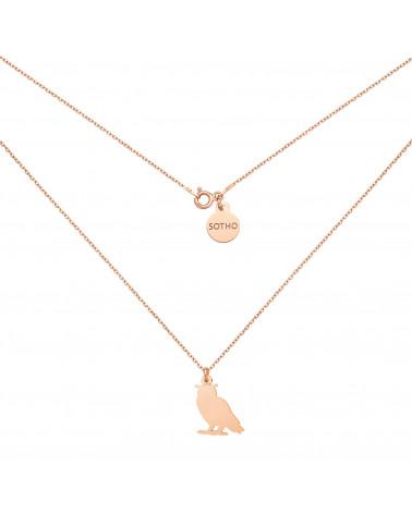 Naszyjnik z sową z różowego złota