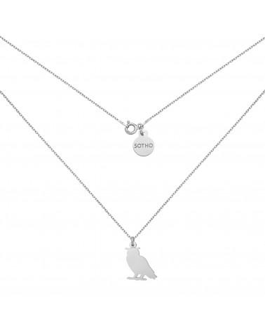 Srebrny naszyjnik z sową