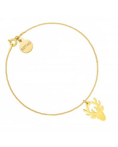 Złoty naszyjnik kettlebell GYM GIRL