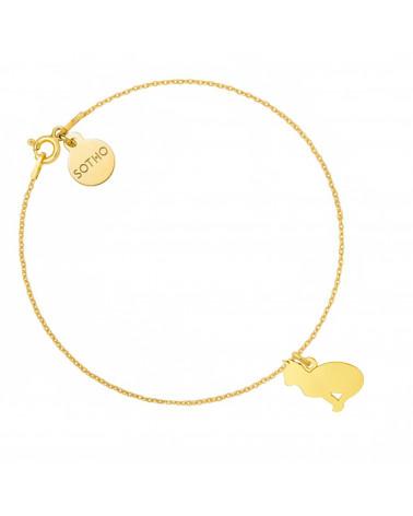 Złota bransoletka z kotem