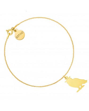 Złota bransoletka z sową