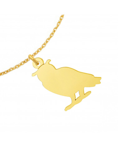 Cielista bransoletka z kotkiem z różowego złota