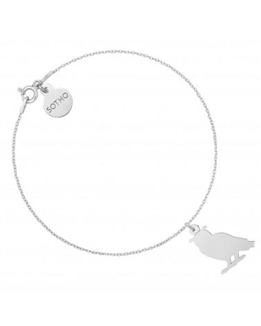 Cielista bransoletka ze srebrnym kotkiem