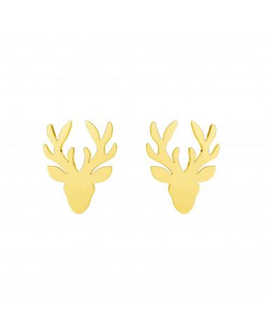 Złote kolczyki jelenie