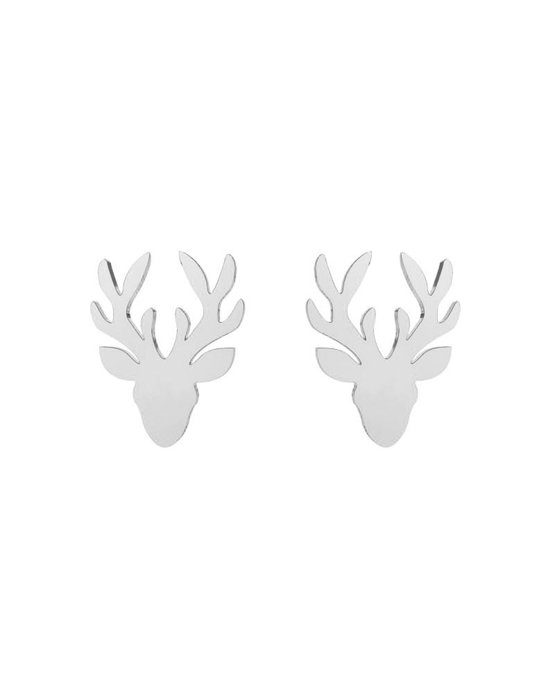 Srebrne kolczyki jelenie