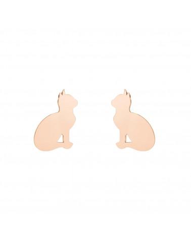 Kolczyki koty z różowego złota