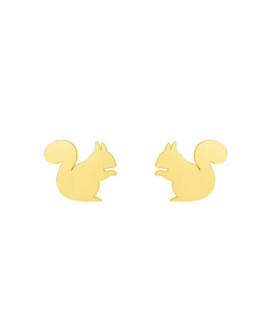 Złote kolczyki wiewiórki