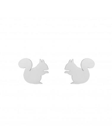 Srebrne kolczyki wiewiórki