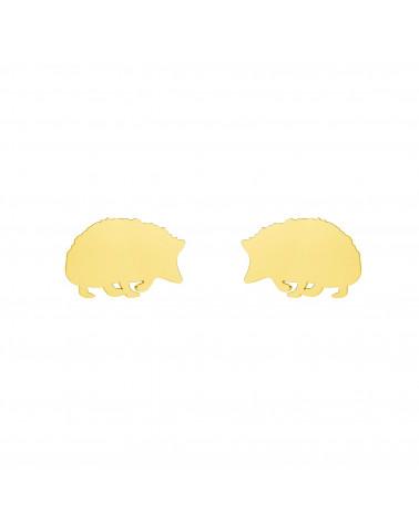 Złote kolczyki jeże