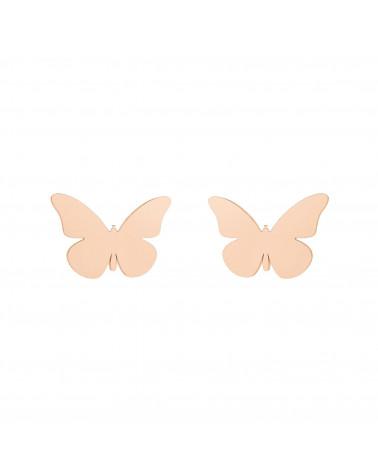 Kolczyki motyle z różowego złota