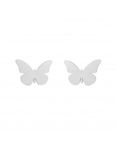 Srebrne kolczyki motyle