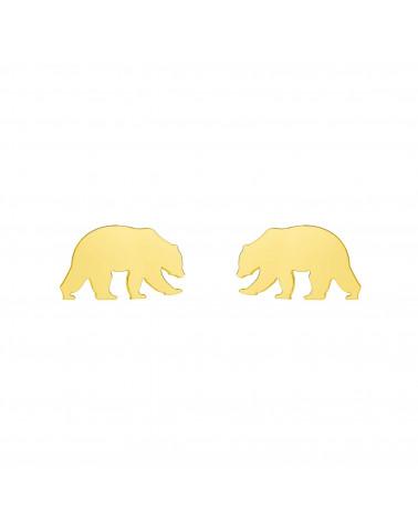Złote kolczyki niedźwiedzie