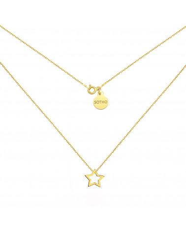 Złoty naszyjnik z gwiazdką
