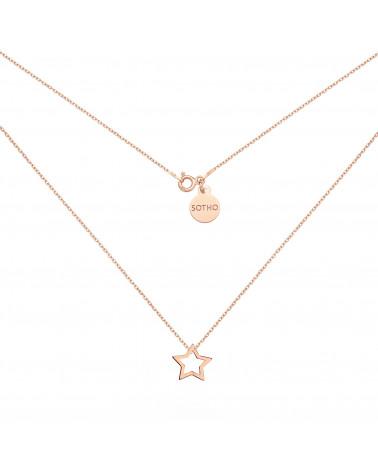 Naszyjnik z różowego złota z gwiazdką