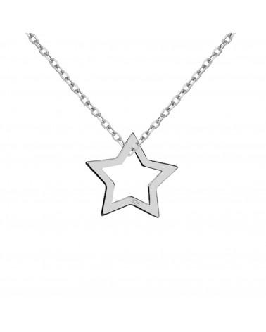 Srebrny naszyjnik z gwiazdką