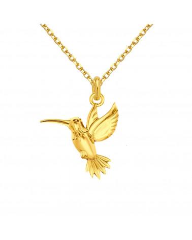 Złoty naszyjnik z kolibrem