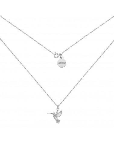 Srebrny naszyjnik z kolibrem