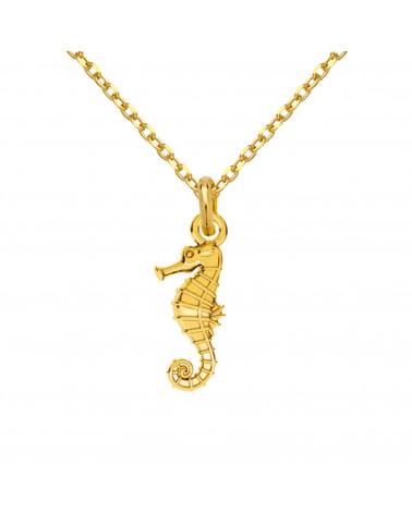 Złoty naszyjnik z konikiem morskim