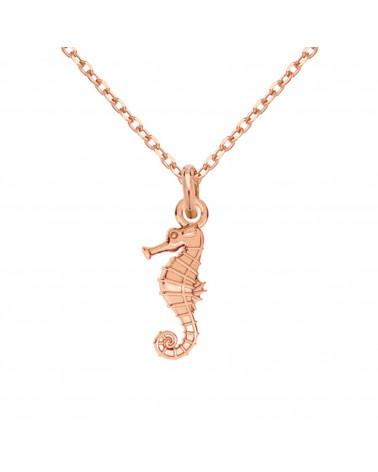 Naszyjnik z różowego złota z konikiem morskim
