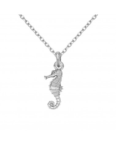 Srebrny naszyjnik z konikiem morskim