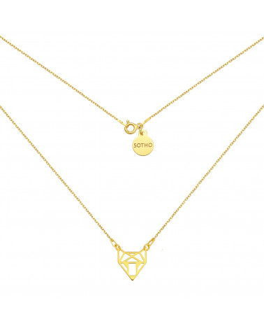 Złoty naszyjnik z ażurowym lisem