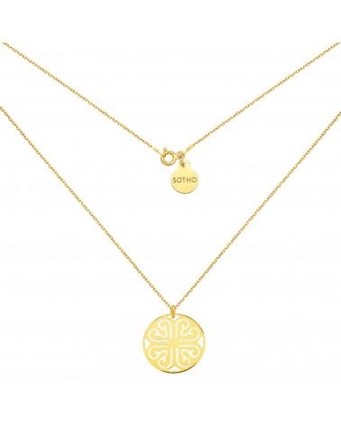 Naszyjnik z różowego złota z przestrzenną Karmą