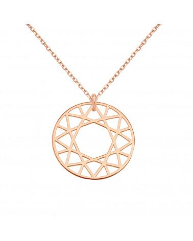 Naszyjnik z różowego złota z trójkątem