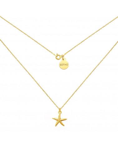 Złoty naszyjnik z rozgwiazdą