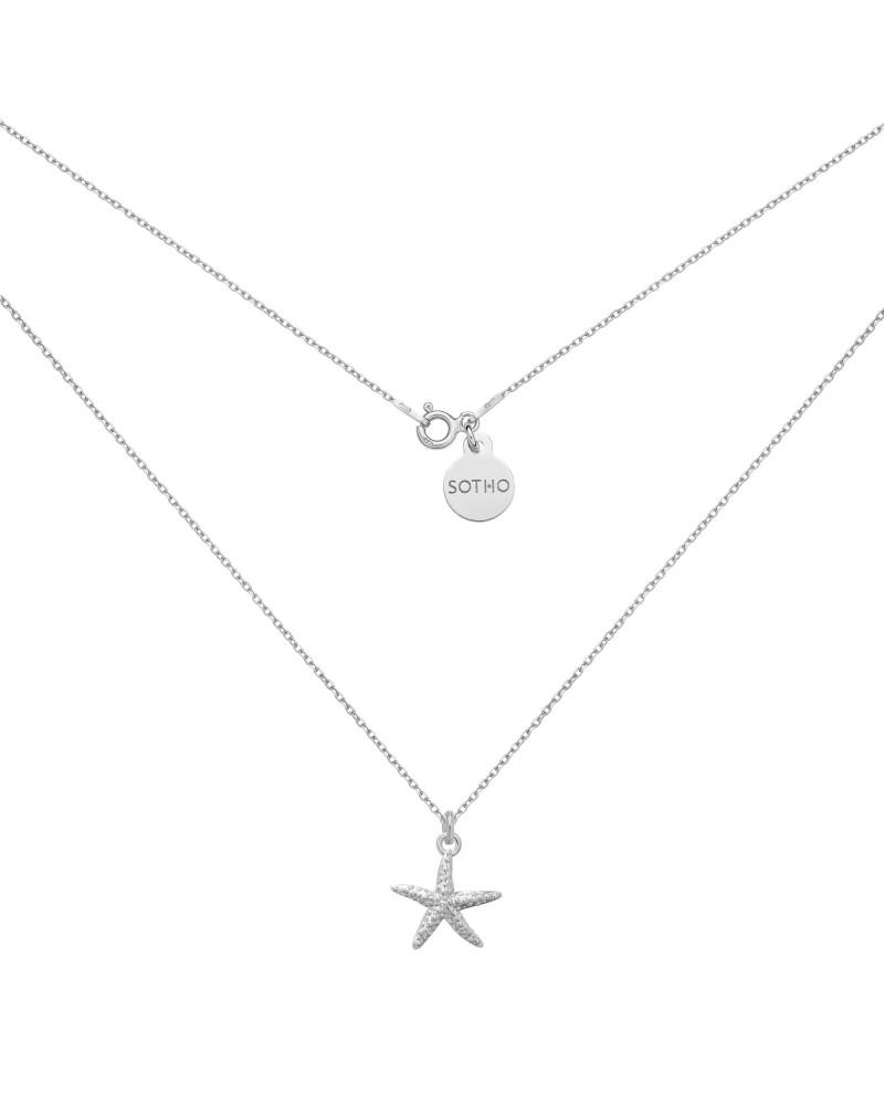 Srebrny naszyjnik z rozgwiazdą